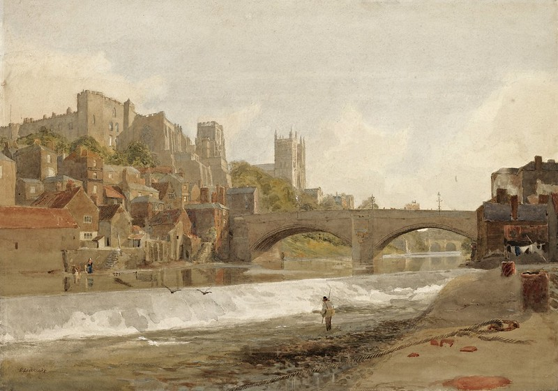 Robert Ladbrooke - Durham Cathedral and Bridge, from the River Wear