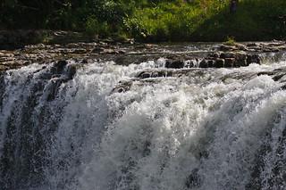 Detail view of Haruru Falls