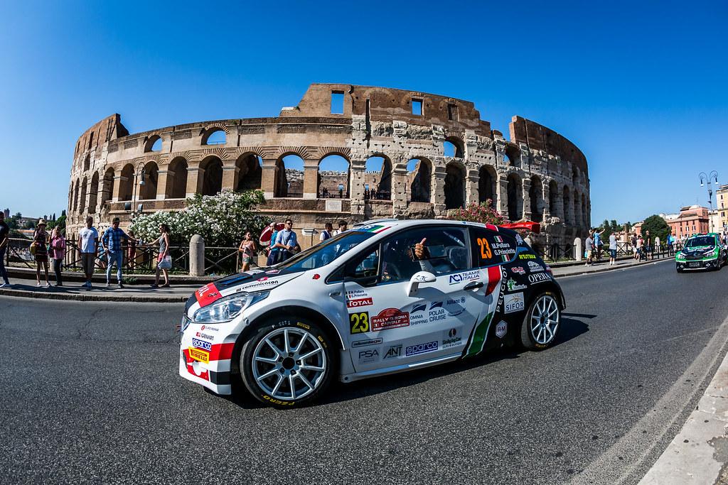 23 Marco Pollara (ITA), Giuseppe Princiotto (ITA), F.P.F.Sport Srl, PEUGEOT 208 T16, action during the 2018 European Rally Championship ERC Rally di Roma Capitale,  from july 20 to 22 , at Fiuggi, Italia - Photo Thomas Fenetre / DPPI