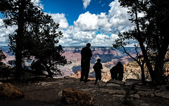 The Grand Canyon, looking towards North Rim, from South Rim On Desert View Drive in the Kaibab National Forrest, Arizona, USA.