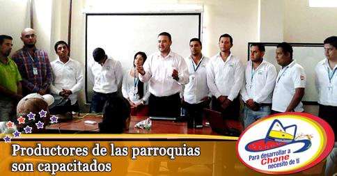 Productores de las parroquias son capacitados