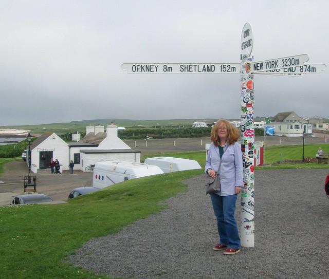 Inland View, Signpost, John  O' Groats