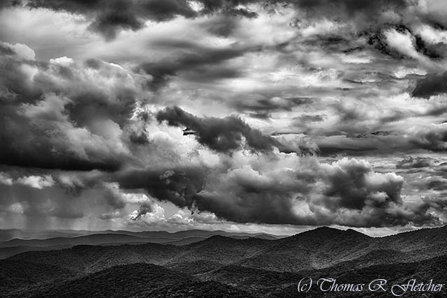 Storm Moving in Blue Ridge Mountains