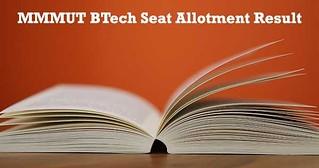MMMUT Btech Seat allotment result