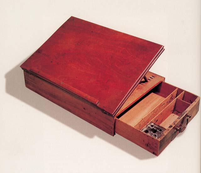 Portable writing desk that Jefferson used to draft and write the Declaration of Independence