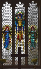 east window angels (Eric Dilworth, 1950s)