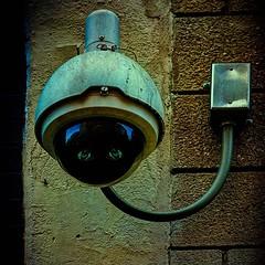 Big Brother Is Watching You . . . #surveillancesystems #bigbrother #camera #eyeseeyou #surveillancecamera #thewatcher #nyc #broomestreetchallenge #broomestreet #singleshotshow #newyorkcityphotography #newyork #pixielatedpixels #chrislorddotnyc #chrislord