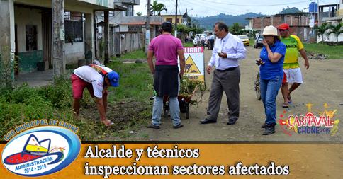 Alcalde y técnicos inspeccionan sectores afectados