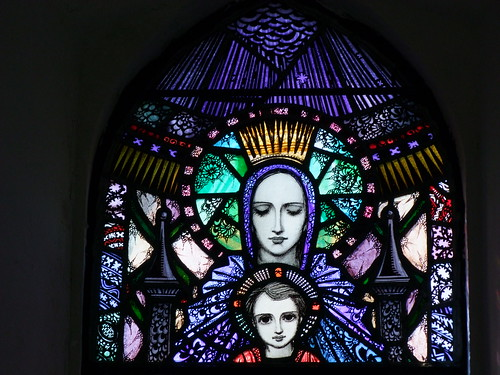 Clare Island, County Mayo, stained glass in parish church