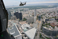 French Army ALAT helicopters over Paris