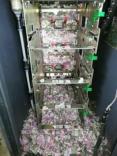 rat-chewed ATM cash