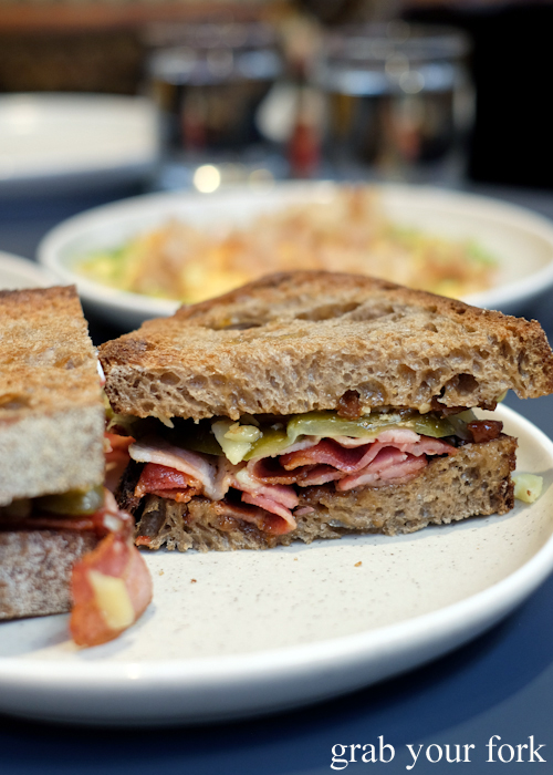 Bacon sandwich at A1 Canteen by Clayton Wells in Chippendale Sydney