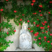 The Virgin Mary and Red Roses