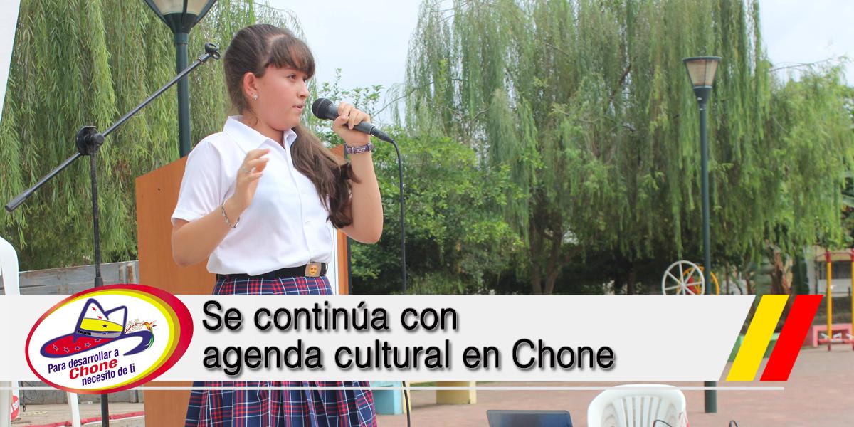 Se continúa con agenda cultural en Chone