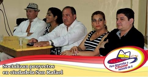 Socializan proyectos en ciudadela San Rafael