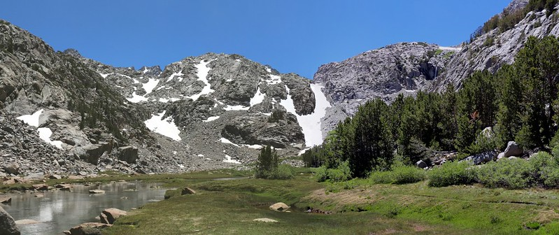 Panorama shot of Sam Mack Meadow