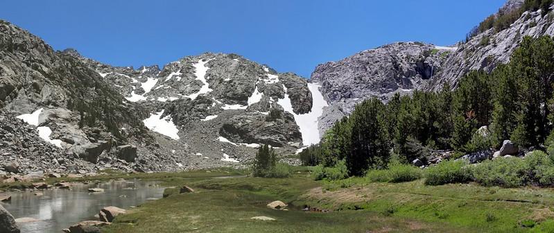 Panorama shot of Sam Mack Meadow
