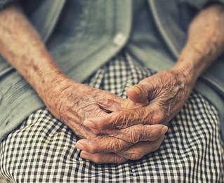 Older woman hands