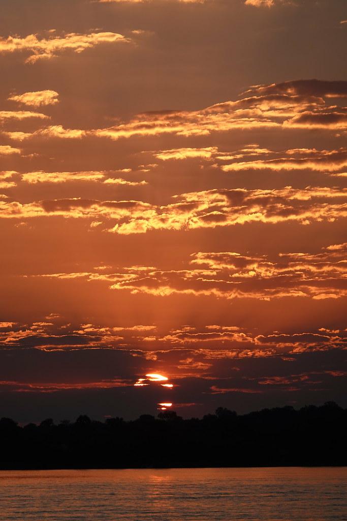 Sunset on the Mighty Zambezi.