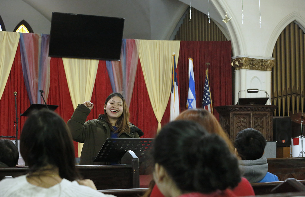 A church service at MUCC.