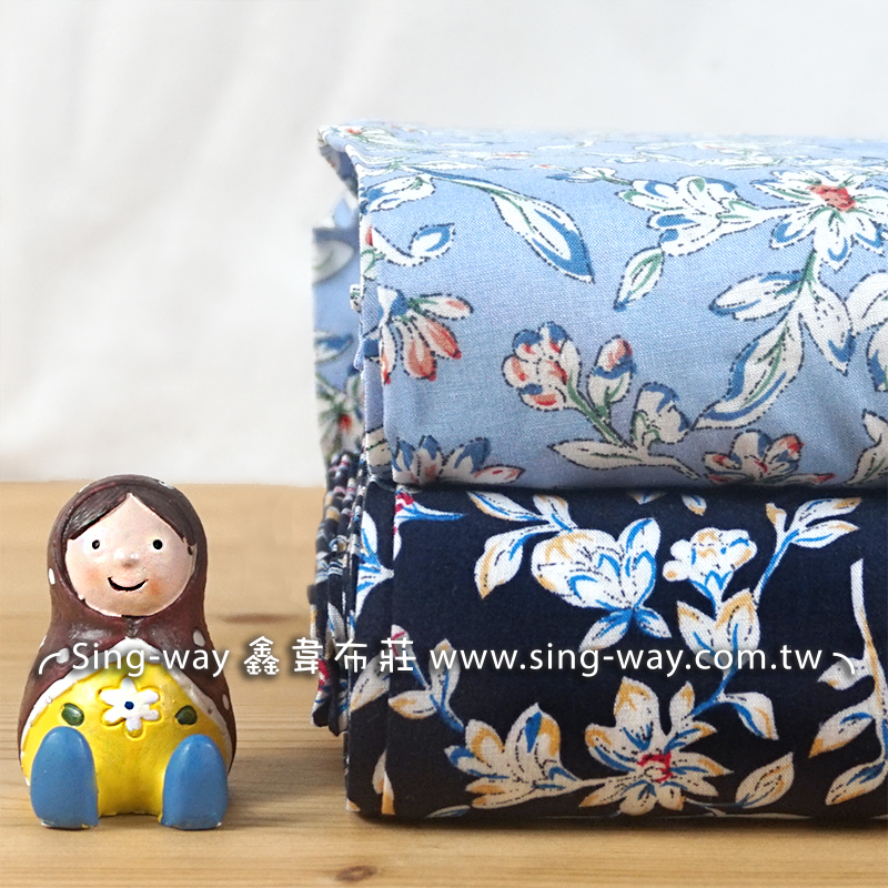 花影子 優美花卉 典雅風 花朵 碎花圖案 長裙 洋裝 夏季服裝布料  CH690409