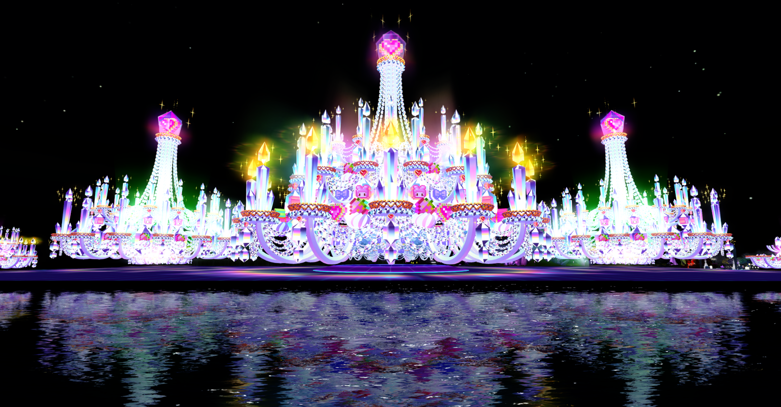 Cake Stage, reflecting the crystal theme