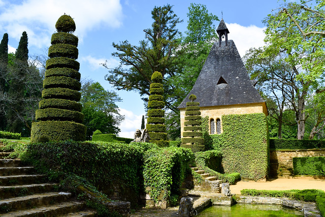 Chapel at the Jardins de Eyrugnac #gardens #eyrugnac #dordogne #france #travel