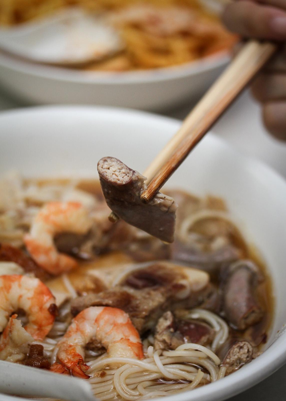鸡腿虾米肠排虾面-肠