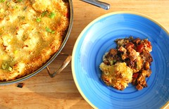 POULPE GRATINÉE (HORSERADISH SEASONED POTATO-GRATINATED OCTOPUS-STEW IN BORDEAUX)