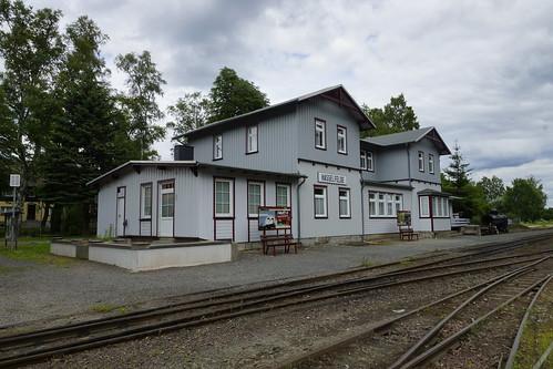 HSB Selketalbahn Station Hasselfelde in de Harz 17-06-2018