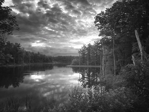 reflections sunrise newengland clouds blackandwhite somersworth nh lake reflection water newhampshire iphone