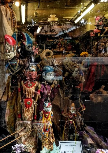 Puppets at the window