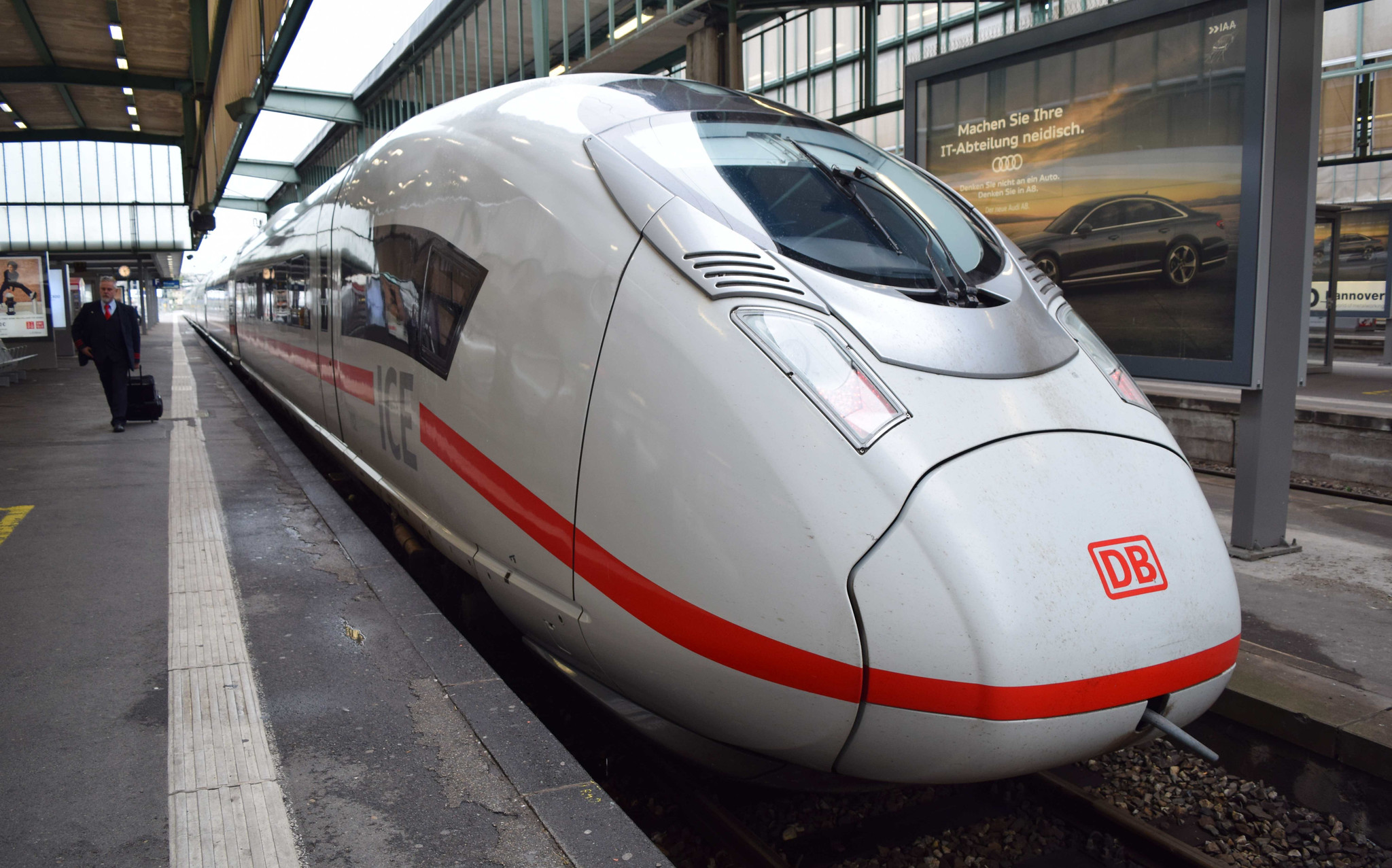 German Velaro D at Stuttgart Hauptbahnhof.(Central Station). Photo taken on September 14, 2017.