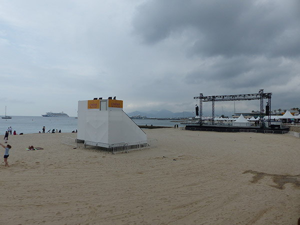 cinéma de la plage vide