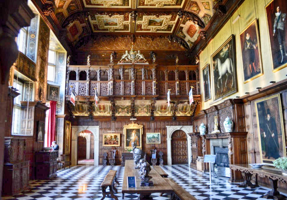 The Marble Hall at Hatfield House in Hertfordshire. Credit Matt Brown