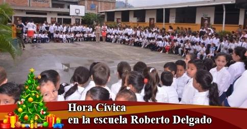 Hora Cívica en la escuela Roberto Delgado