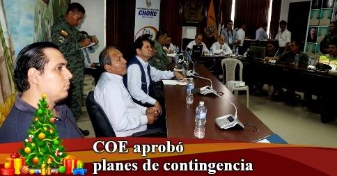 COE aprobó planes de contingencia