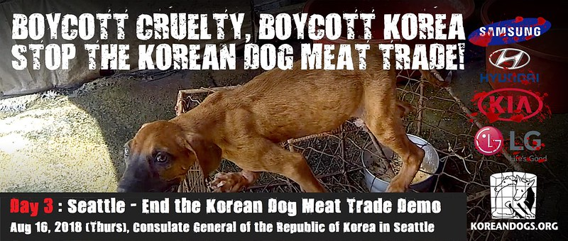 Seattle – End the Korean Dog Meat Trade Demonstration 2018