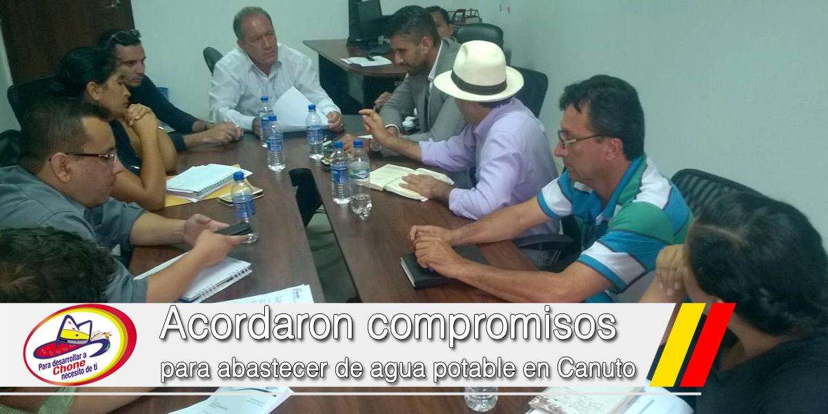 Acordaron compromisos para abastecer de agua potable en Canuto