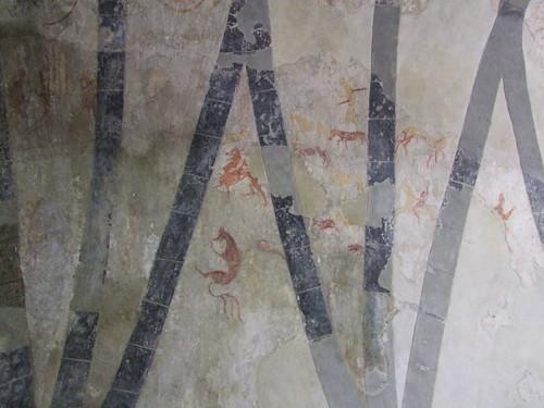 Clare Island, County Mayo, Cistercian Monastery, wall paintings 4