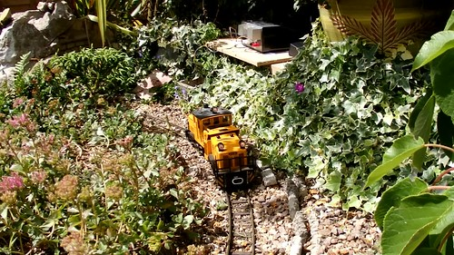 LGB Track Cleaning Loco in action