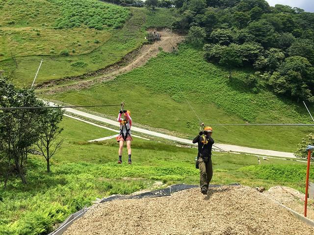 蓬莱山 琵琶湖バレイ ジップライン LINE6 GoldenEagle(イヌワシ)