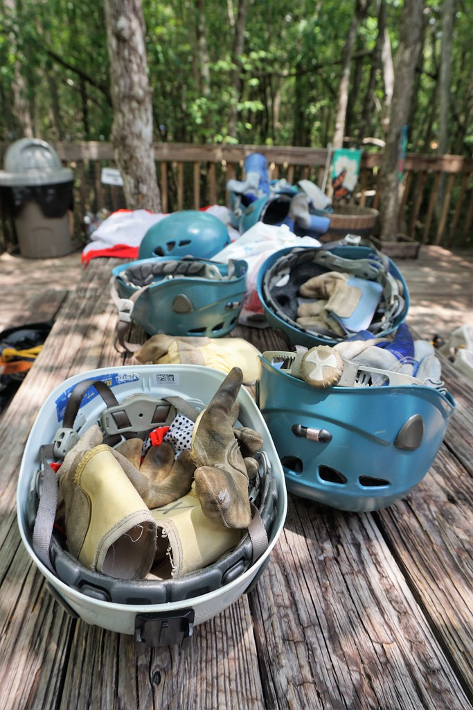 Zipline Equipment at Adventures Unlimited Outdoor Center in Milton, Santa Rosa County, Fla., May 2018.