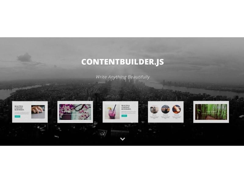 ContentBuilder js