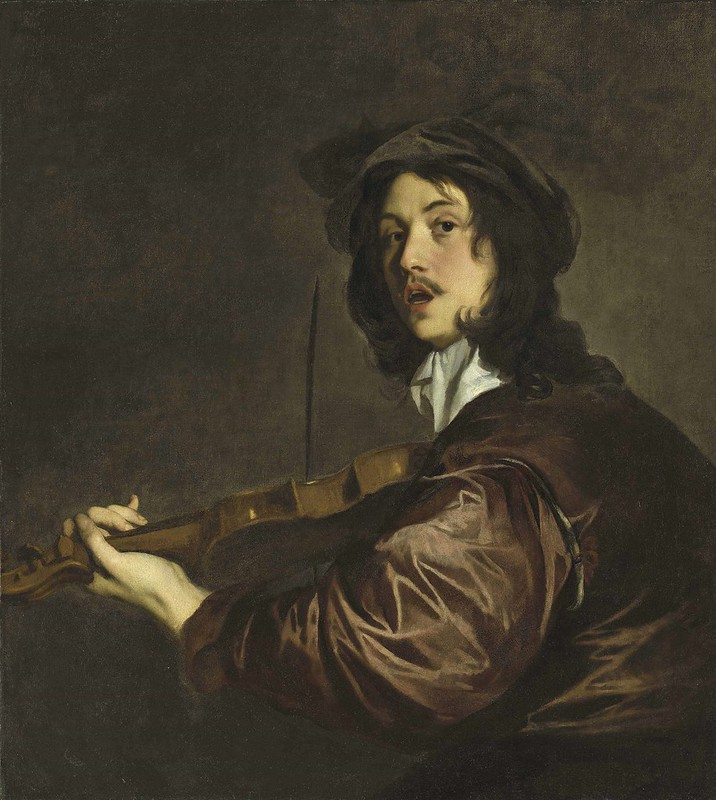 Peter Lely - A Man, possibly the Artist, Playing the Violin