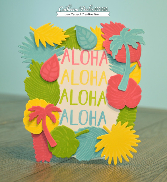 Jen Carter Tropically Yours Party Set Aloha Sign