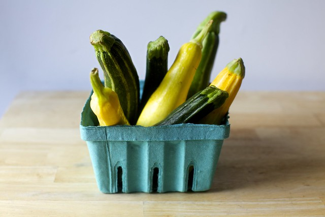a mix of zucchini and other summer squash