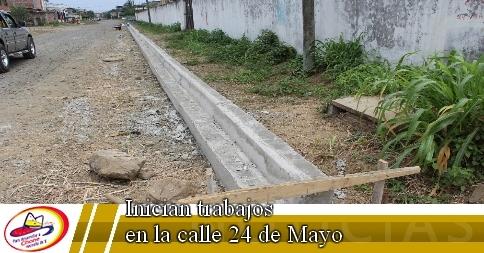 Inician trabajos en la calle 24 de Mayo