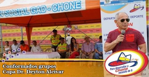 Conformados grupos Copa Dr. Deyton Alcívar