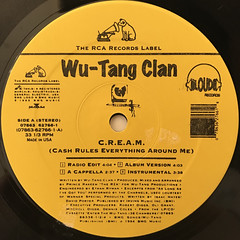 WU-TANG CLAN:C.R.E.A.M.(LABEL SIDE-A)
